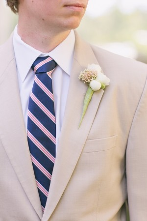 Tan Grooms Suit