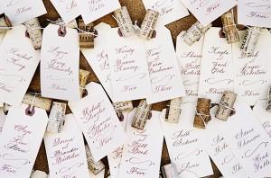 Unique Calligraphy Escort Cards