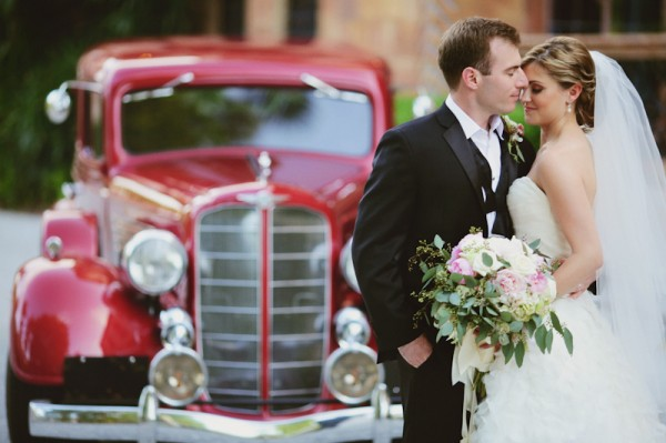 Vintage Car Wedding Portrait