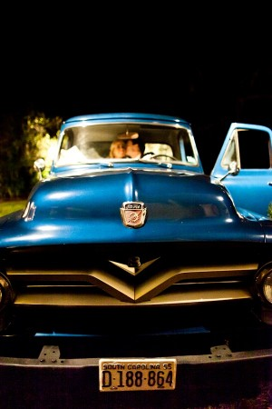 Vintage Wedding Getaway Car 2