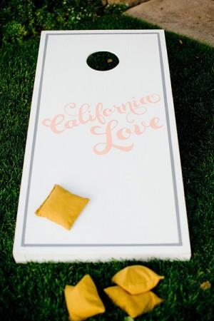 Wedding Painted Cornhole Game