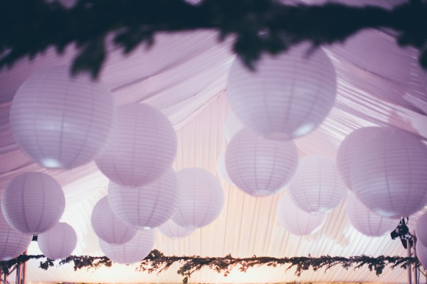 Wedding Reception Hanging Lanterns