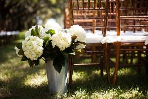 White Ceremony Flower Decoration