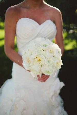 White Round Wedding Bouquet 1
