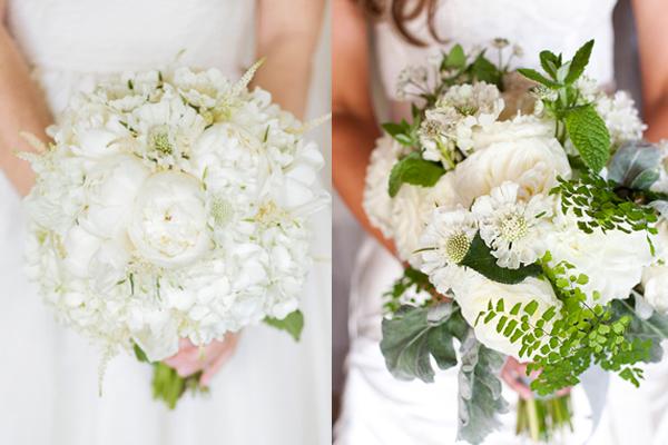 White Scabiosa Bouquets