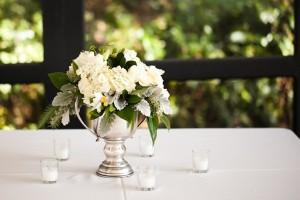 White Wedding Centerpice 1