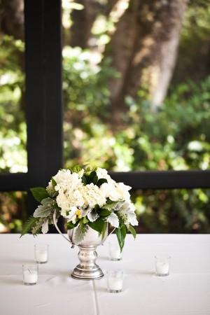 White Wedding Centerpice 2