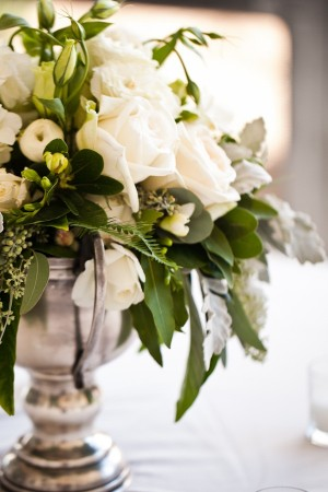 White Wedding Centerpice 3