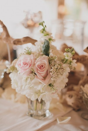 White and Pink Wedding Flowers