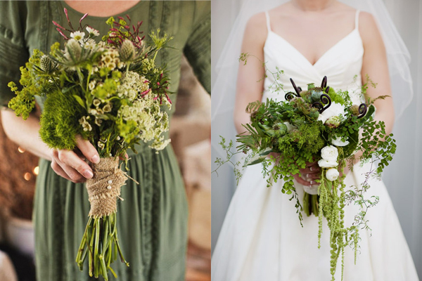 Woodsy Wedding Bouquets