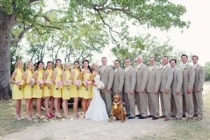 Yellow Bridesmaids Dresses 1