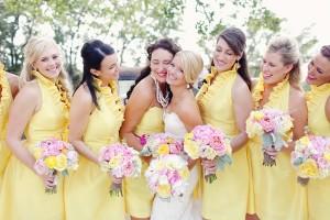 Yellow Bridesmaids Dresses 2