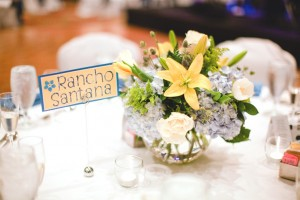 Yellow Lily Centerpiece