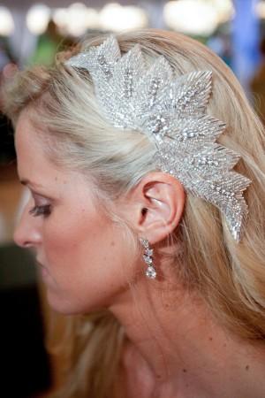 Beaded Bridal Hair Piece