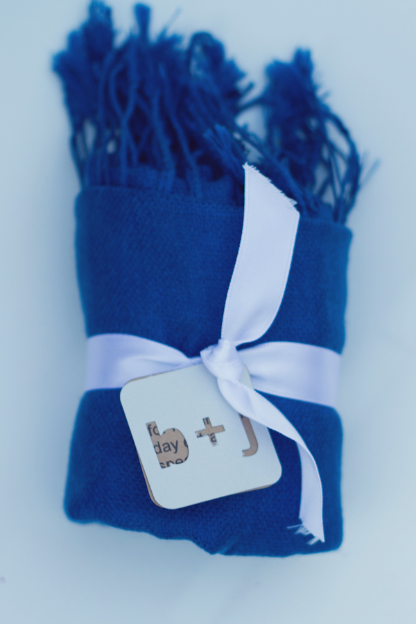 Blue Pashmina Wedding Favor