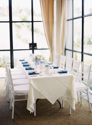 Blue and White Reception Table 1
