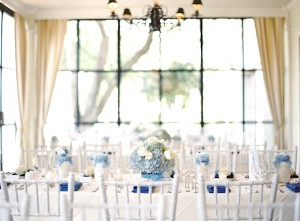 Blue and White Reception Table