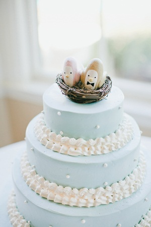 Blue and White Wedding Cake 2