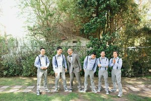 Blue and gray Groomsmen Outfits