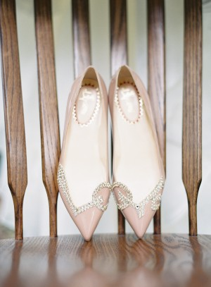 Blush Bridal Shoes With Jewels