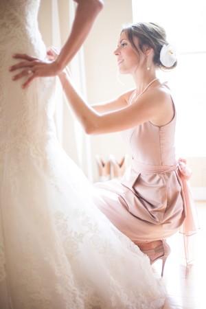Blush Rose Colored Bridesmaids Dress