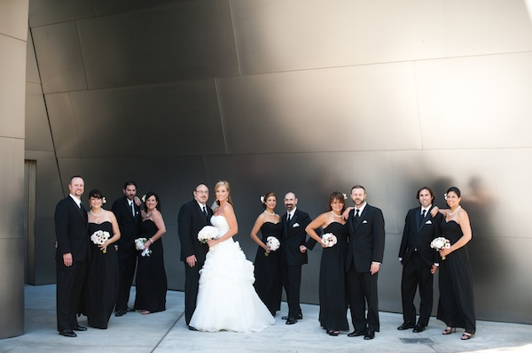 Bridal Party Wearing Classic Black