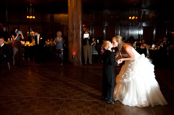 Bride Kissing Little Boy