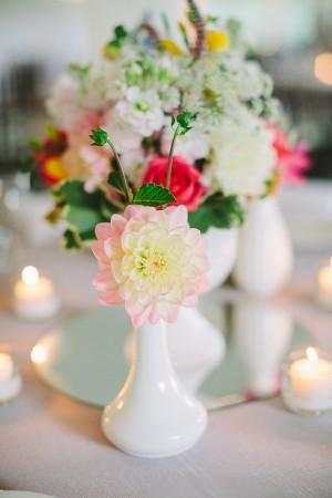 Bright Flower Arrangements Reception Table 1