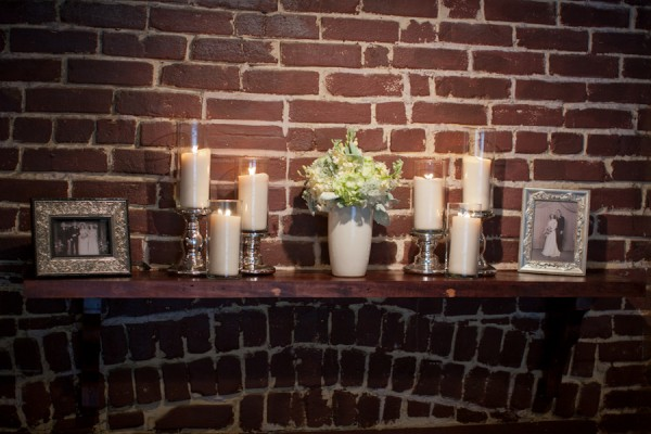 Candle and Photo Reception Display