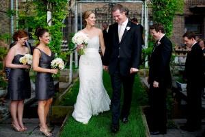 Charcoal Dupioni Silk Bridesmaids Dresses