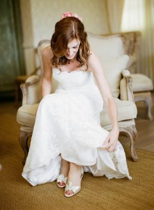 Classic Bride in Monique Lhullier