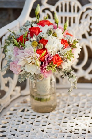 Dahlias and Billy Ball Bouquet
