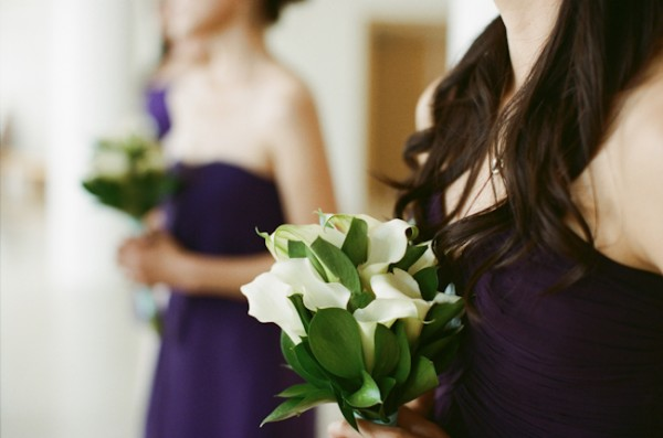 Dark Periwinkle Bridesmaids Dresses