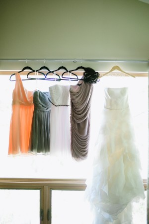 Different Bridesmaids Dresses With Gown