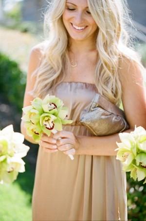 Elegant Gold Bridesmaids Dress