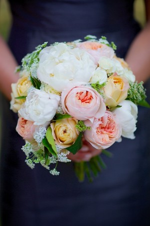 Elegant Pale Pink Yellow and Cream Bouquet