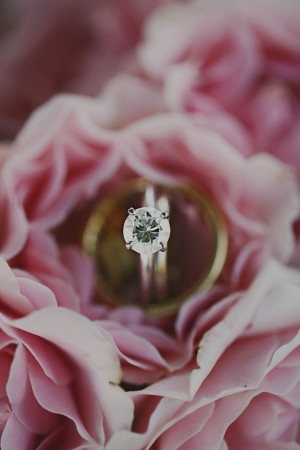 Engagement Ring in Pink Garden Roses