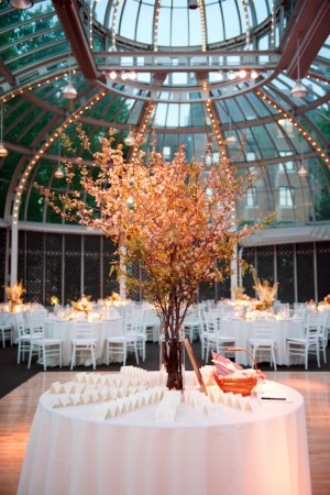 Escort Table with Tree Centerpiece