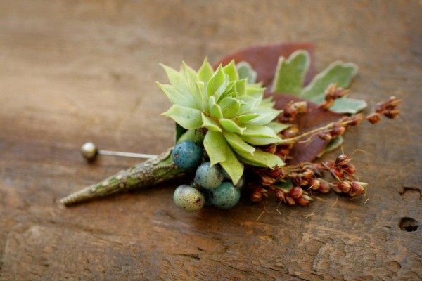 Fall Succulent Boutonniere