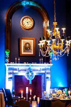 Fireplace Wedding Reception Decoration
