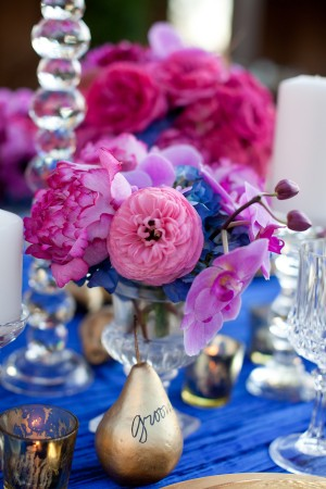 Fuchsia and Blue Wedding Flowers