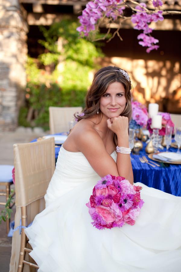 Glamorous Fuchsia Royal Blue Wedding Ideas Elizabeth Anne Designs