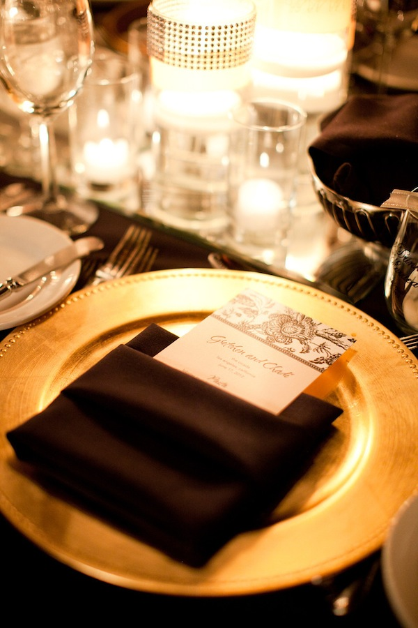 Gold Charger Table Setting & Gold Charger Table Setting - Elizabeth Anne Designs: The Wedding Blog
