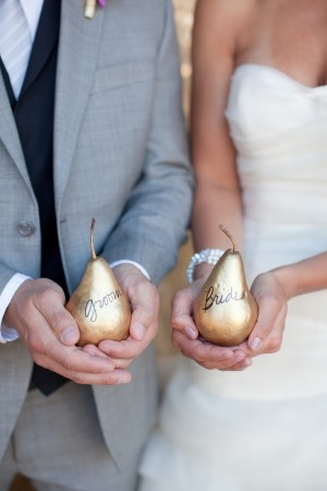 Golden Pear Place Cards