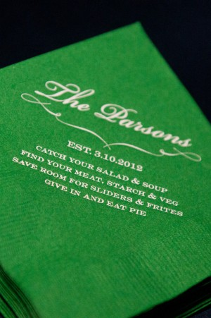 Green Cocktail Napkins