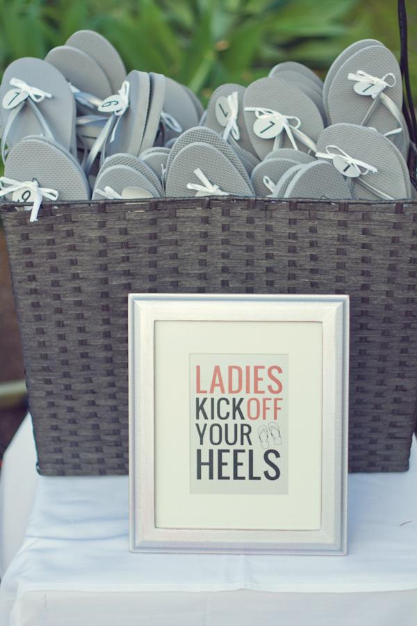 b409f7175f0f Guest Reception Flip Flops - Elizabeth Anne Designs  The Wedding Blog