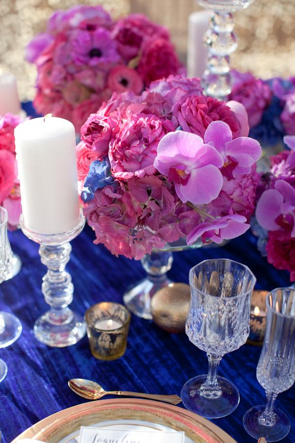 Hot pink fuchsia wedding centerpiece elizabeth anne