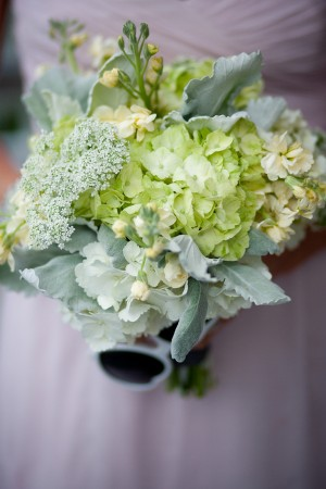 Hydrangea and Queen Annes Lace Bouquet