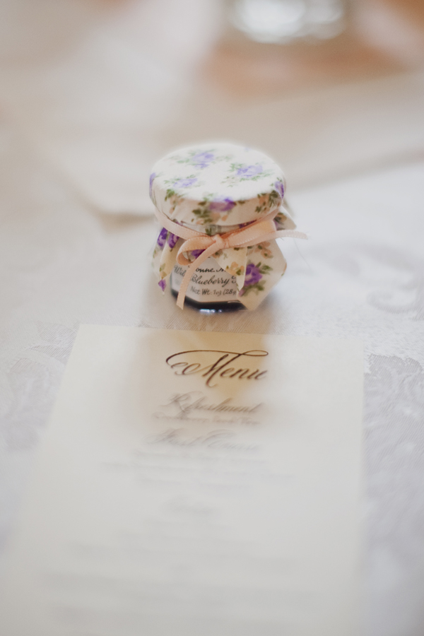 Individual Jelly Jar Wedding Favor