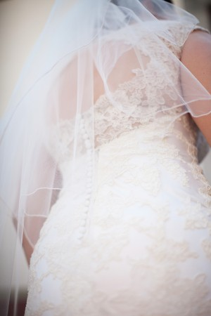 Lace Wedding Gown Back With Buttons